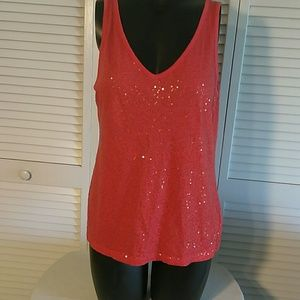 DKNY Sequined Tank Top